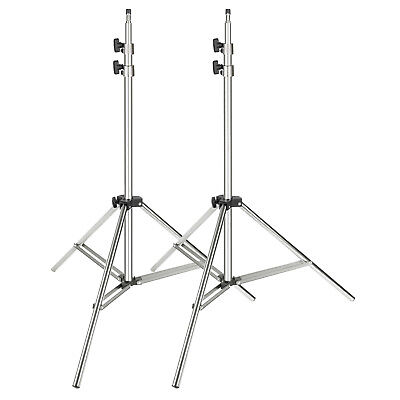 Neewer Silver 2-pack Stainless Steel Light Stand 37-79 inch Support Stand