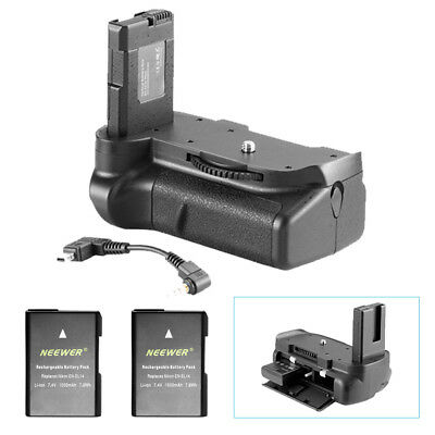 Neewer Vertical Battery Grip + 2 Pieces Battery for Nikon D5100 5200 D5300 DSLR