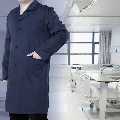 Blue Lab Coat Laboratory Coat Warehouse Coat Doctor's Coat Workwear M/L/XL