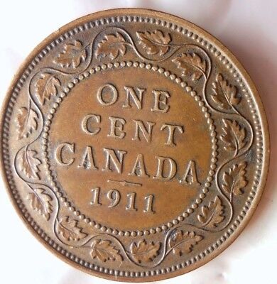 1911 Canada Cent - Au - One Year Type - Free Shipping - Hv31