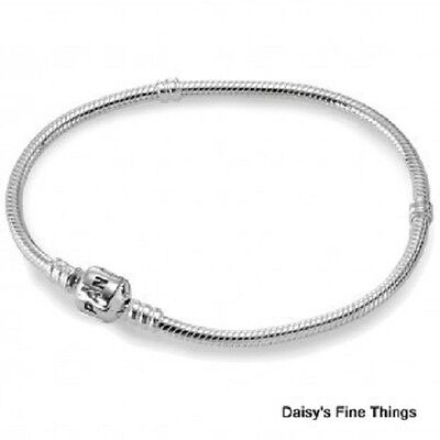 NEW AUTHENTIC PANDORA SILVER BRACELET BARREL CLASP 590702HV-18 18cm/7.1IN