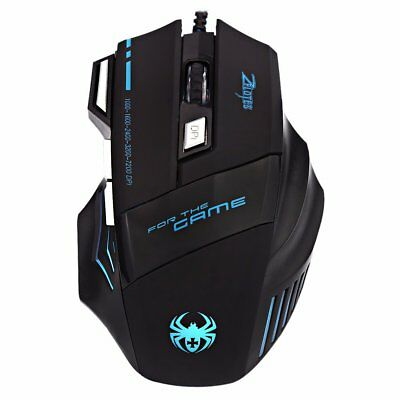 ZELOTES Gaming Maus 7200 DPI 7 Tasten USB für Pro Gamer LED Mouse Kabel