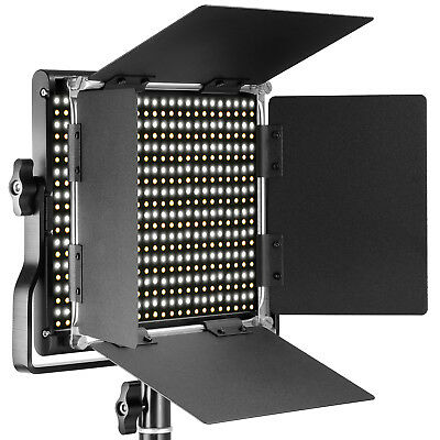 Neewer Dimmable Bi-color 660 LED with U Bracket and Barndoor Pro Video Light