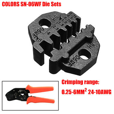 SN-06WF Die Sets for SN Crimping Plier Series Alloy Steel 0.25-6MM² 24-10AWG