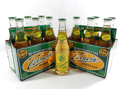 Lot of (2) 2000 Vernor's Limited Edition Throwback Retro Glass Bottle 6-Packs