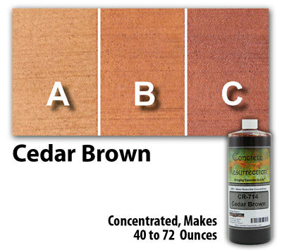 Professional Easy to Apply Water Based Concrete Stain Cedar Brown 8oz