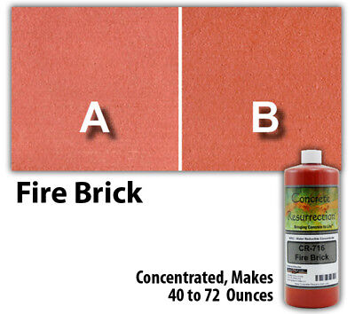 Professional Easy to Apply Water Based Concrete Stain Fire Brick 8oz