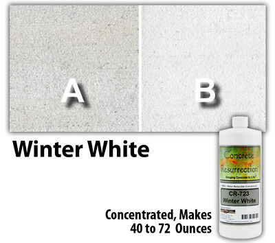Professional Easy to Apply Water Based Concrete Stain Winter White 8oz