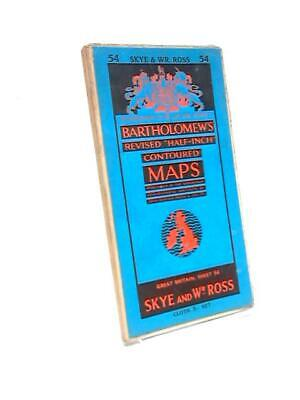 Barholomew's Revised Contoured Maps. Skye and Wr ROSS.  Book (Anon) (ID:09303)