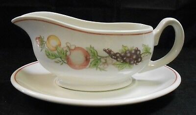 Boots Orchard Pottery Gravy Boat and Stand        Ro