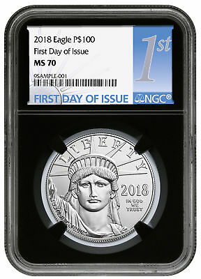 2018 1 oz Platinum American Eagle $100 Coin NGC MS70 FDI Black Core SKU52401