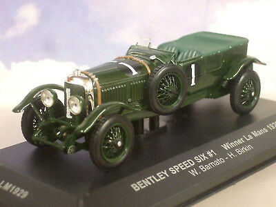 Ixo 1/43 Bentley Speed Six 6 #1 Winner 1St Le Mans 1929 Barnato & Birkin Lm1929