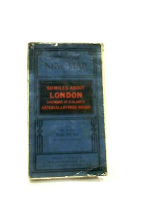 Geographia New Map of 50 Miles About London  Book (Anon - 1111) (ID:41543)