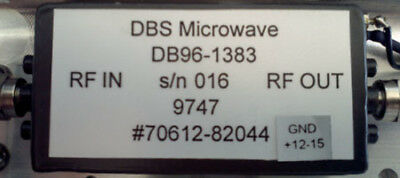 DBS Microwave DB96-1383 Amplifier, GND +12-15