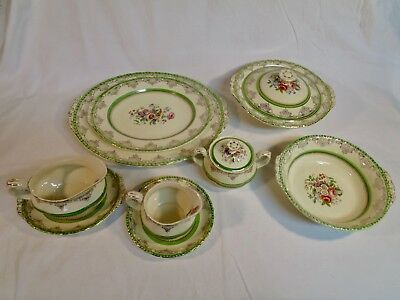 Grindley England Antique China-Rosemere-11 Piece Serving Pieces A5