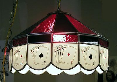 Stained Glass Poker Card Table Texas Hold Em Light