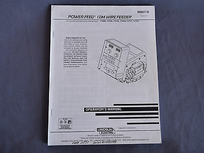 Lincoln Welding Power Feed 10M Feeder 11086 11193 11216 11439 11771 11772 Manual