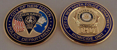 HOMICIDE UNIT/ISD New Haven CT Connecticut Police Department CHALLENGE COIN
