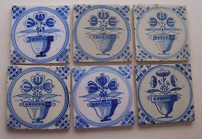6 Delft Tiles c. 19th  century