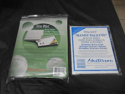 """Masterson Art Products 857 Sta-Wet """"Handy Palette""""  W/Pack Of Extra Sheets"""