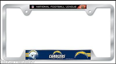 NFL San Diego Chargers Heavy Duty Chrome Metal License Plate Frame