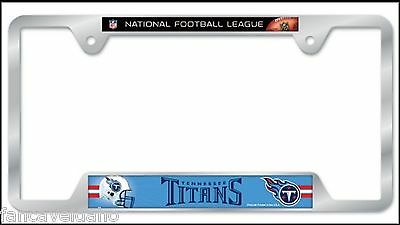 NFL Tennessee Titans Heavy Duty Chrome Metal License Plate Frame