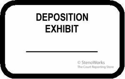 DEPOSITION EXHIBIT Labels Stickers White  492 per pack Free Shipping