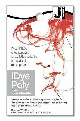 New Jacquard iDYE Poly Fabric Dye - For Polyester & Nylon - RED - JID449
