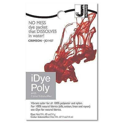 New Jacquard iDYE Poly Fabric Dye - For Polyester & Nylon - CRIMSON - JID457