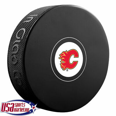Calgary Flames Official NHL Logo Souvenir Autograph Hockey Puck