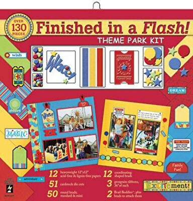 "Finished in a Flash 12"" Scrapbook Kits - Various to Choose"