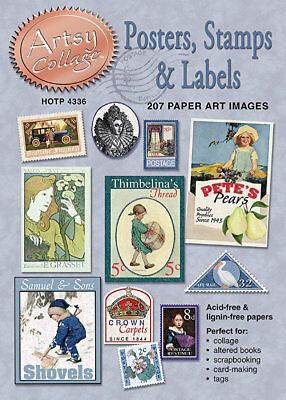 Artsy Collage Images POSTERS STAMPS & LABELS Scrapbooking