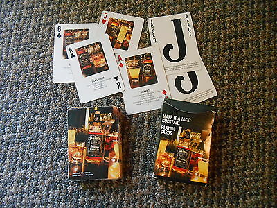 Old 2007 Advertising Playing Cards Deck Jack Daniel's w/ Pictures & Some Recipes