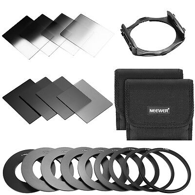 Neewer ND2/4/8/16 GND2/4/8/16 Filter Kit for Cokin P Series for DSLR Camera Lens