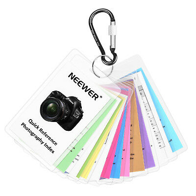 Neewer Tip Card Set Photography Guide for Canon Rebel T2 T2i T3 T3i T4 T4i T5 T6