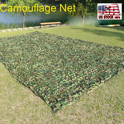 Woodland leaves Camouflage Camo Army Net Netting Camping Military Hunting Cover
