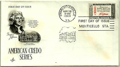 First Day Of Issue. Usa. American Credo Series. 1960