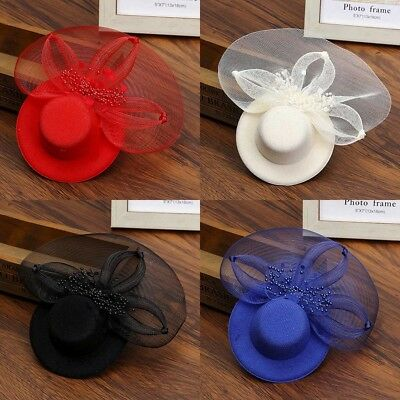 Hair Clip Lace Mini Top Hat Fascinator Wedding Party Cocktail Fancy Dress