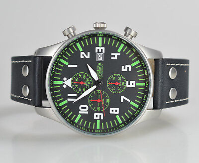 ASTROAVIA XL PILOT 10L NEW EDITION 6 ZEIGER CHRONOGRAPH 46mm FLIEGERUHR N231