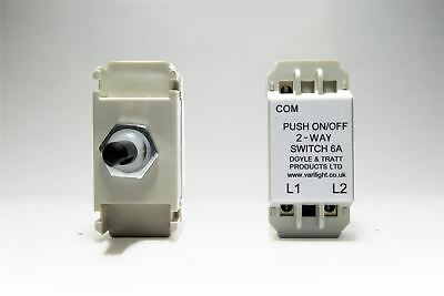 Varilight 2-Way Push-On/Off Switch Module (Dummy Dimmer) 6A