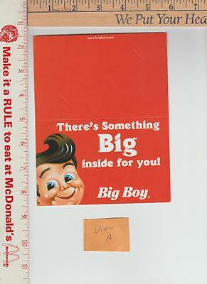 10 framable big boy gift card holders {only one shown}