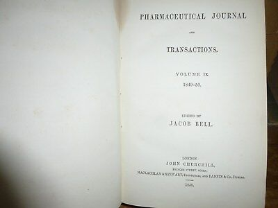 Pharmaceutical Journal and Transactions Vol IX 1849-50