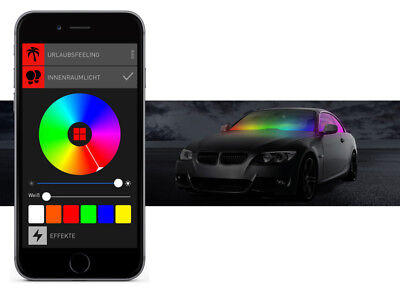 BEPHOS® RGBW LED Innenraumbeleuchtung Audi A5 8T Coupe APP Steuerung
