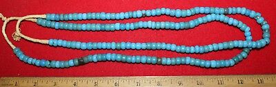 (2) Strands of Blue Padre Trade Beads