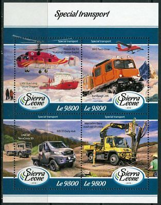 """Sierra Leone 2017:  """"special Transport""""  Sheet  Of Four Mint Nh"""