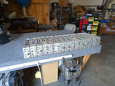 Lot of 18 Tektronix Plugin Modules 7A26 7B87 7A22 7B53A 7A19 7B92A 7B85 7A24