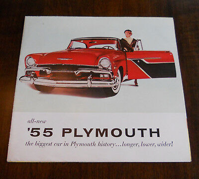 1955 Plymouth Belvedere Savoy Plaza Fold-out Sales Brochure