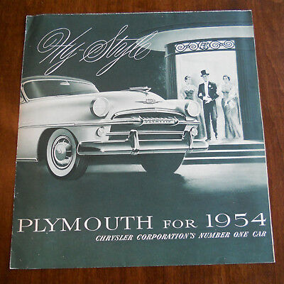1954 Plymouth Belvedere Savoy Plaza Large Fold-out Sales Brochure