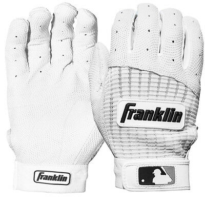 Franklin Youth Pro Classic MLB Batting Gloves - Pearl/White