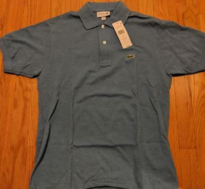 a1870262 Mens Authentic Lacoste Classic Pique Polo Shirt Blue Lagoon Chine 7 2XL $89